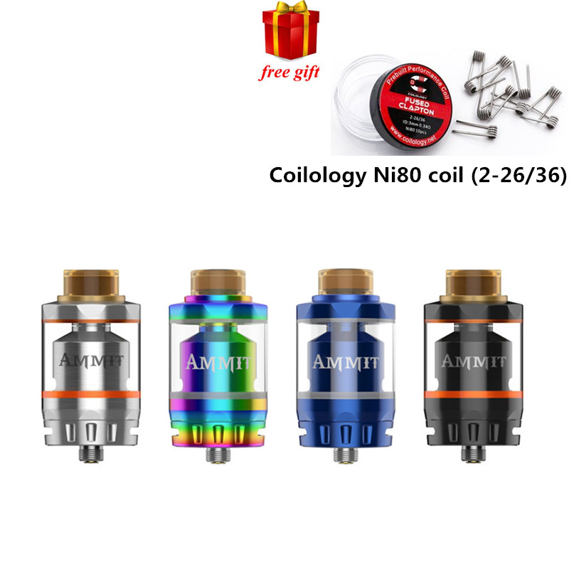 Free gift!! Geekvape Ammit Dual Coil RTA Tank 3ml/6ml Capacity Support Both Dual and Single Coil Ammit tank For box mod niko 50pcs chrome single coil pickup screws