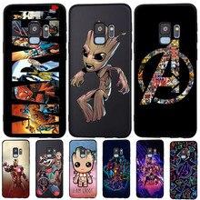 С героями комиксов Марвел, Грут «Мстителей» для samsung Galaxy S6 S7 край S8 S9 S10 Plus Note 8 9 A20 A30 A40 A50 A70 чехол для телефона чехол Coque Etui