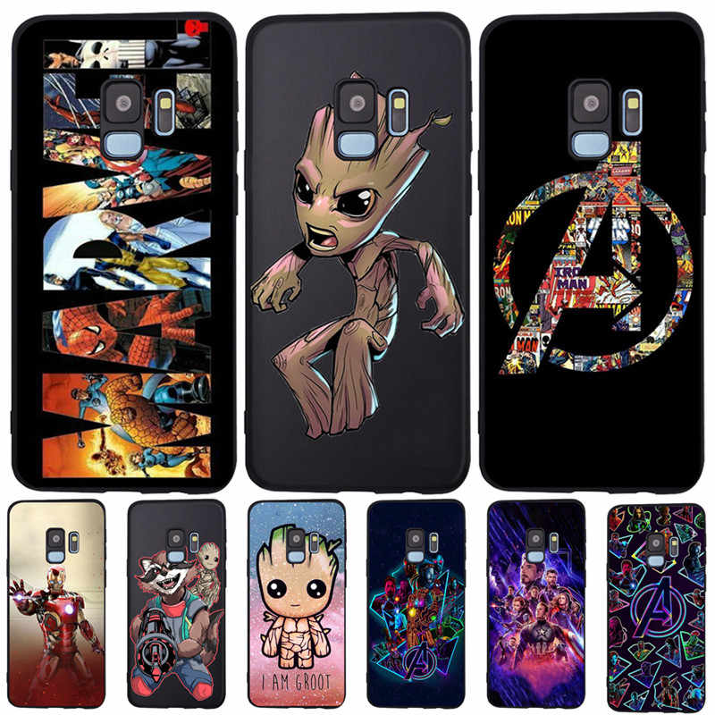 Marvel Groot Avengers Pour Samsung Galaxy S6 S7 Bord S8 S9 S10 Plus Lite Note 8 9 A20 A30 A40 A50 A70 housse de téléphone Coque Etui