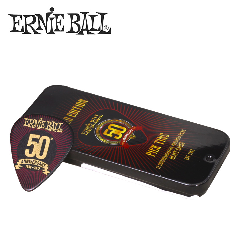 Ernie Ball Limited Edition 50th Anniversary Heavy Picks with Tin Pack, Medium / Heavy Gauge Available deep purple deep purple stormbringer 35th anniversary edition cd dvd