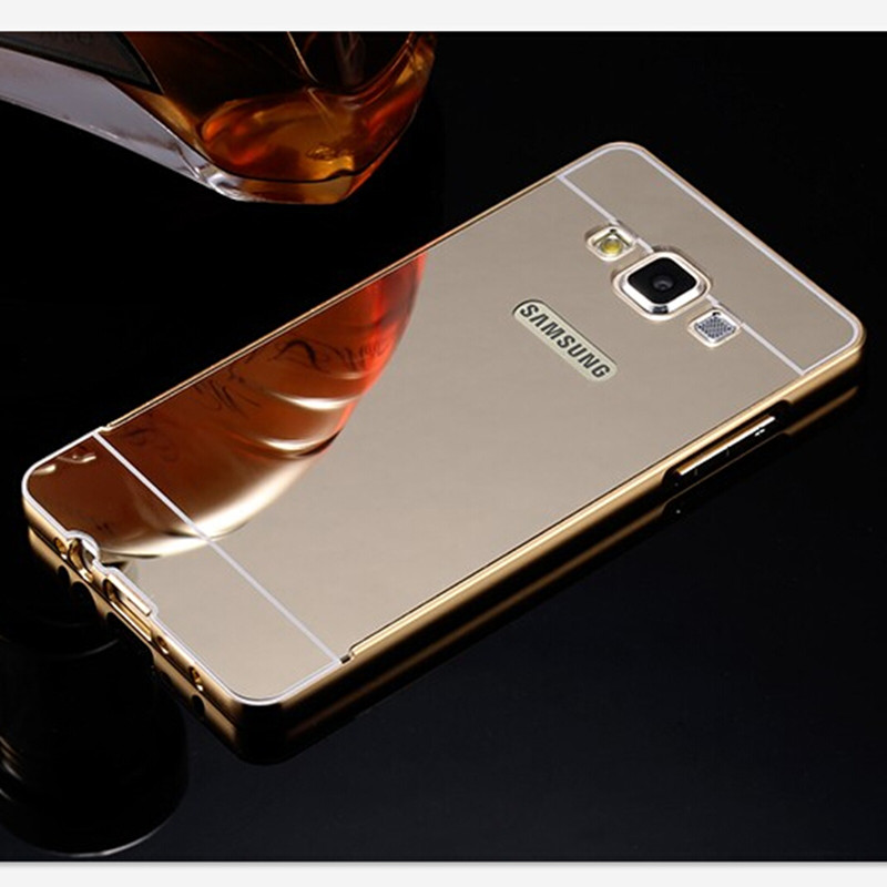 fashion luxury gold mirror case for samsung galaxy a3 case. Black Bedroom Furniture Sets. Home Design Ideas
