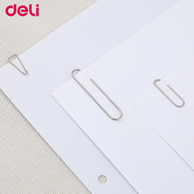 Deli large 100pcs/set metal standard paper clip good quality small/middle/big size triangle/metal/colorful clips