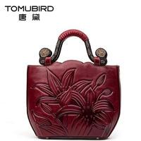2016 New Women Bag Genuine Leather Chinese Brand High Quality Cowhide Embossing Retro Fashion Women Handbags