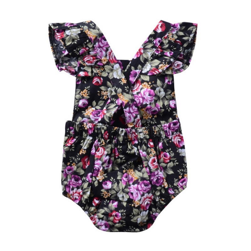 Summer Newborn Baby Clothes Baby Bodysuits Carrier Girl Bodysuits Beach Baby Girl Clothes
