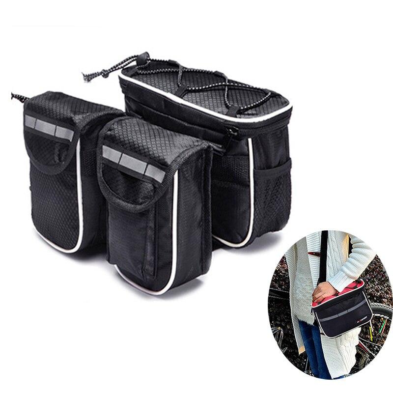 Купить с кэшбэком Bicycle bag frame front mobile phone bag mountain car top tube bag mountain bike bicycle waterproof bag accessories