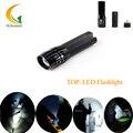 Mini LED Linterna de luz de Alta calidad negro Zoomable Lanterna Penlight antorcha 2000lm Lúmenes Fuertes