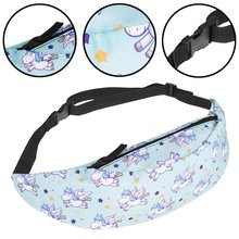 New Style 3D Colorful Waist Pack for Men Fanny Pack Style Bum Bag unicorn Women Money Belt Travelling Mobile Phone Bag(China)