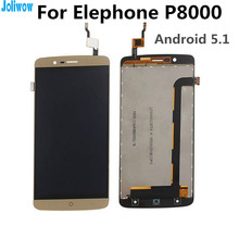 FOR elephone P8000 Android 5.1  LCD Display+Touch Screen Assembly Replacement Accessories For phone elephone P 8000 LCD screen lcd display touch screen panel digitizer accessories for elephone p8000 5 5inch smartphone free shipping track number