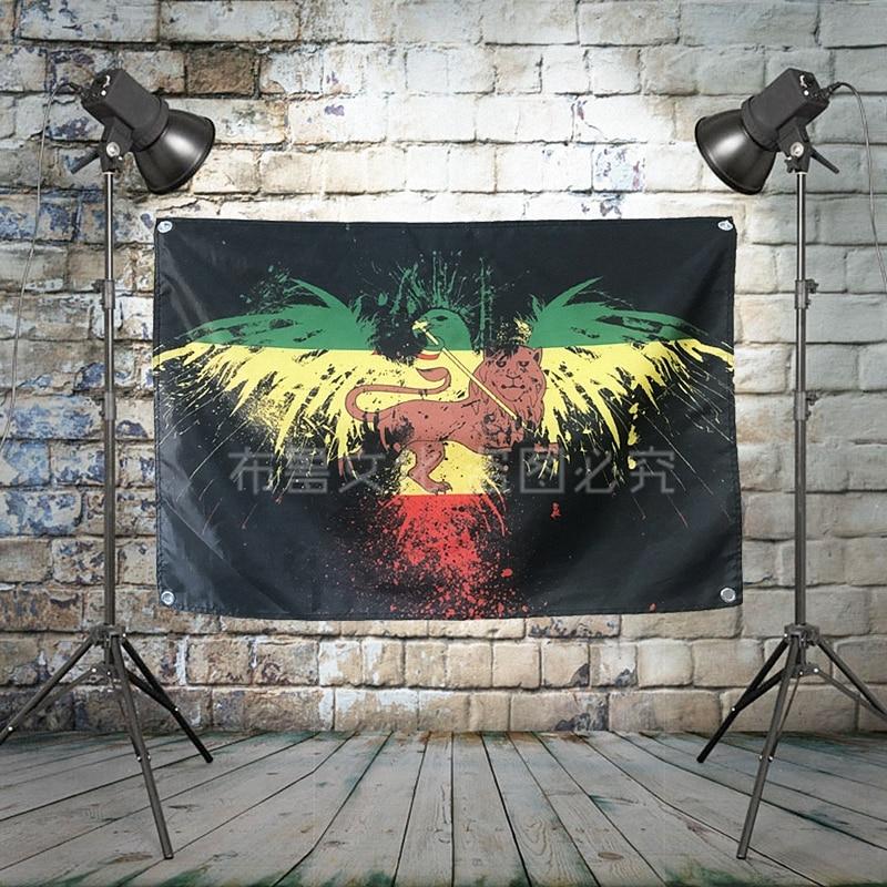 """""""bob Marley"""" Grande Reggae Rock Banner Bandiera A Quattro Fori Wall Hanging Pittura Camera Da Letto Studio Festa Music Festival Sfondo Decor Vendite Economiche"""