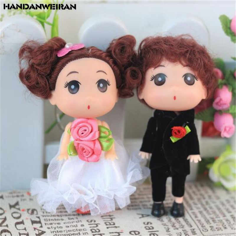 2PCS Couple Confused Doll Toy Cute Creative Bouquet Wedding Dolls Toys Children Valentine Gifts For Kids Unisex Hot Sale 12CM