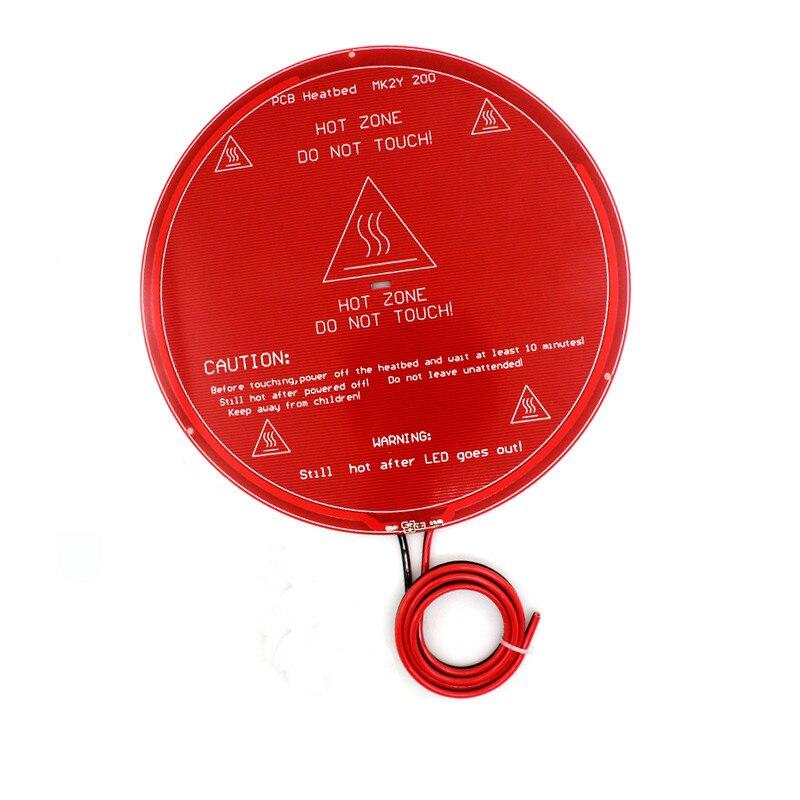 Funssor 220mm Round Heated Bed Mk2y Welding Wire Round Diameter Hot Bed Great Varieties 220mm Pcb
