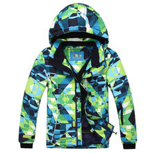 Men Waterproof Ski Jacket  Very Thick Warm Snowboard Windproof Breathable for Russian -30 Degree