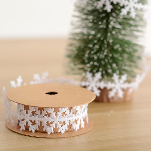 2 5cm 100cm Snowflake Leaves Ribbon Christmas Tree Ornaments Wedding
