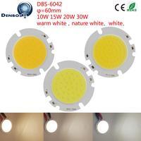 10PCS Lot LED COB Light Source 6042 Manufacturer Globe 60mm Round High Lumen Module 10W 15W