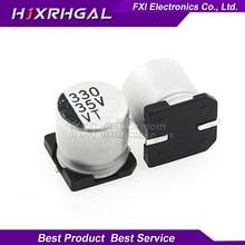 10PCS Electrolytic capacitor 35V330UF 10*10mm SMD aluminum electrolytic capacitor 330uf 35v