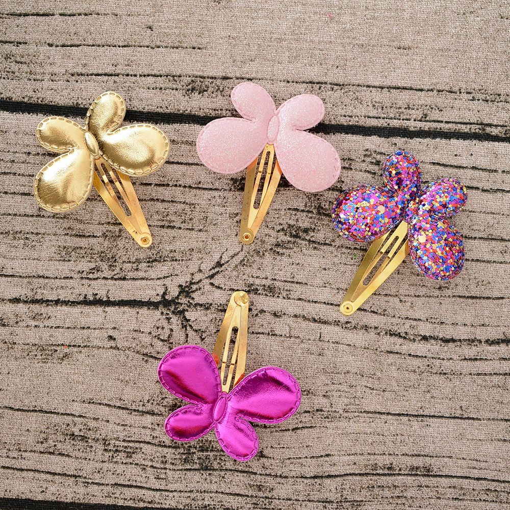 Cute Glitter Baby Girls Hair Accessories Sequins Heart Butterfly Barrettes Glitter Stars BB Clip Hair Clips Children Hairpin