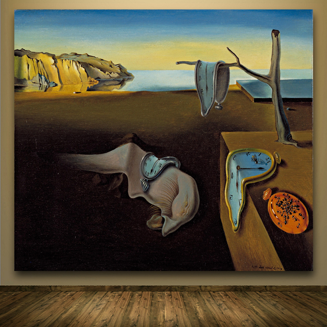 Salvador Dali Famous Paintings Clocks