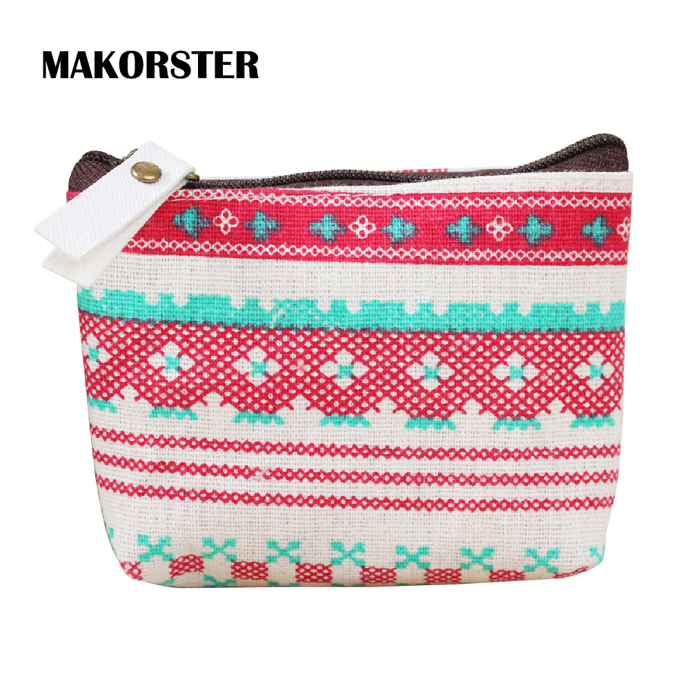 MAKORSTER Kawaii Animal Prints Coin Wallet Cute Purse Pouchs For Travel Ladies Pouch Women Coin Purses Holders  MK116