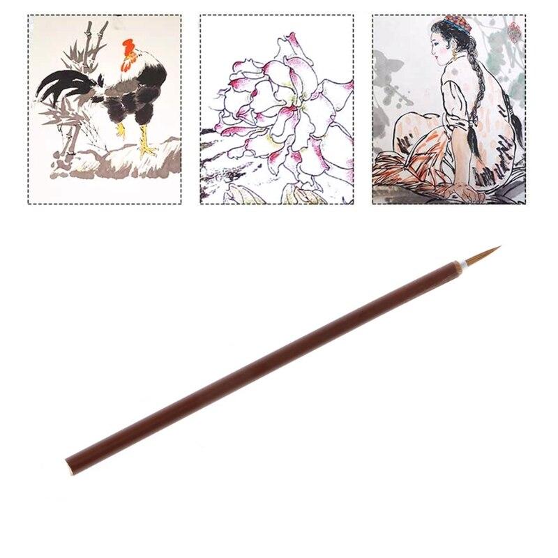 Miniature Brush Artist Wolf Hair Paint Brush Thin Hook Line Pen Acrylic Watercolor Round Paints Brush Art Drawing Supplies
