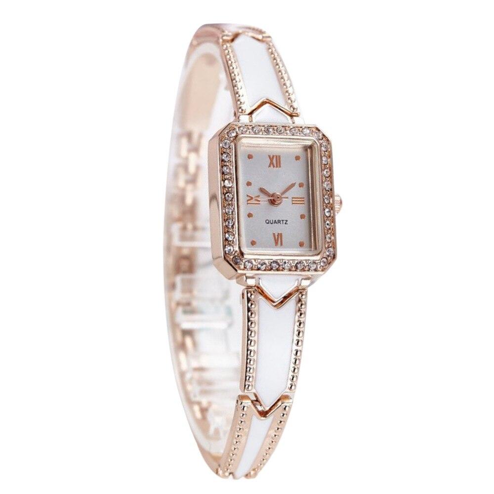 Moda de lujo para mujer reloj femenino Rhinestone Reloj de las mujeres delgadas de acero inoxidable reloj de pulsera de cuarzo oro plata relogios
