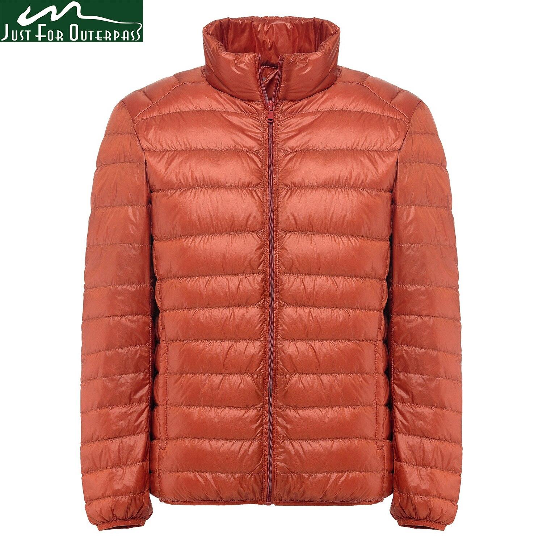 2018 новая зимняя куртка-пуховик Для мужчин 90 белая утка Подпушка куртка воротник стойка Сверхлегкий Подпушка куртка Мужская парка Chaqueta Pluma Hombre