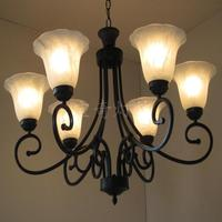 샹들리에 빛 빈티지 철 램프 미국 소박한 거실 조명 pendan zx108