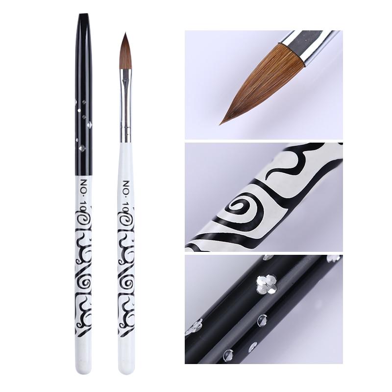 1Pc UV Gel Nail Brush Acrylic Extension Nail Painting Pen Brush Flower Drawing  Nail Art Tools DIY Nail Art Design