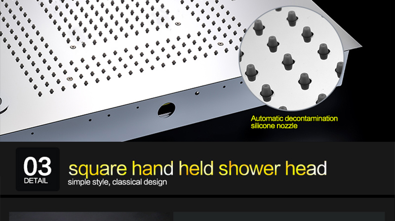Bathroom Fixture Shower Faucets Ceiling Mounted Waterfall Mist Shower Head Big Rain LED Shower Set High Flow Thermostatic Bath (50)