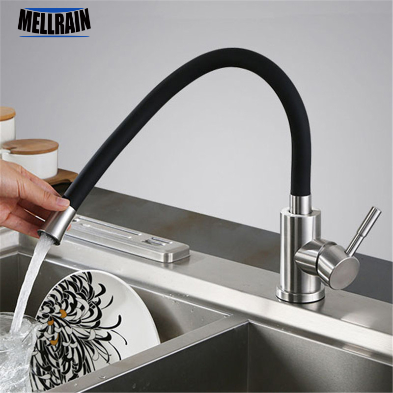 Multicolor 304 stainless steel kitchen faucet all around free rotation sink mixer tap for kitchen цена 2017
