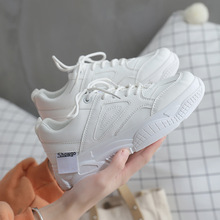 Hot Spring/Autumn 2019 New Women Shoes Flat Platform Fashion Sneakers Casual Solid Shallow Lace-up Luxury Designer