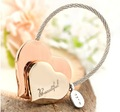 Milesi -New 2015 Brand Heart Key chain Keychain Trinket Car Key Holder Rings for Women Novelty Gift innovative Items Bag Pendant