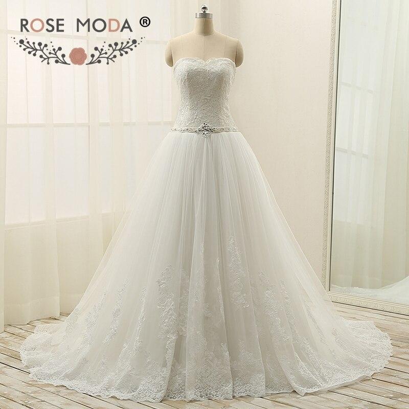 Rose moda sweetheart lace corset tulle wedding dress with for Lace up corset wedding dress