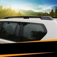 Aluminium Alloy Carrier Bar Roof Rack Side Rails Bars Outdoor Travel Luggage 2Pcs For Toyota Land Cruiser Prado FJ150 2010 2016