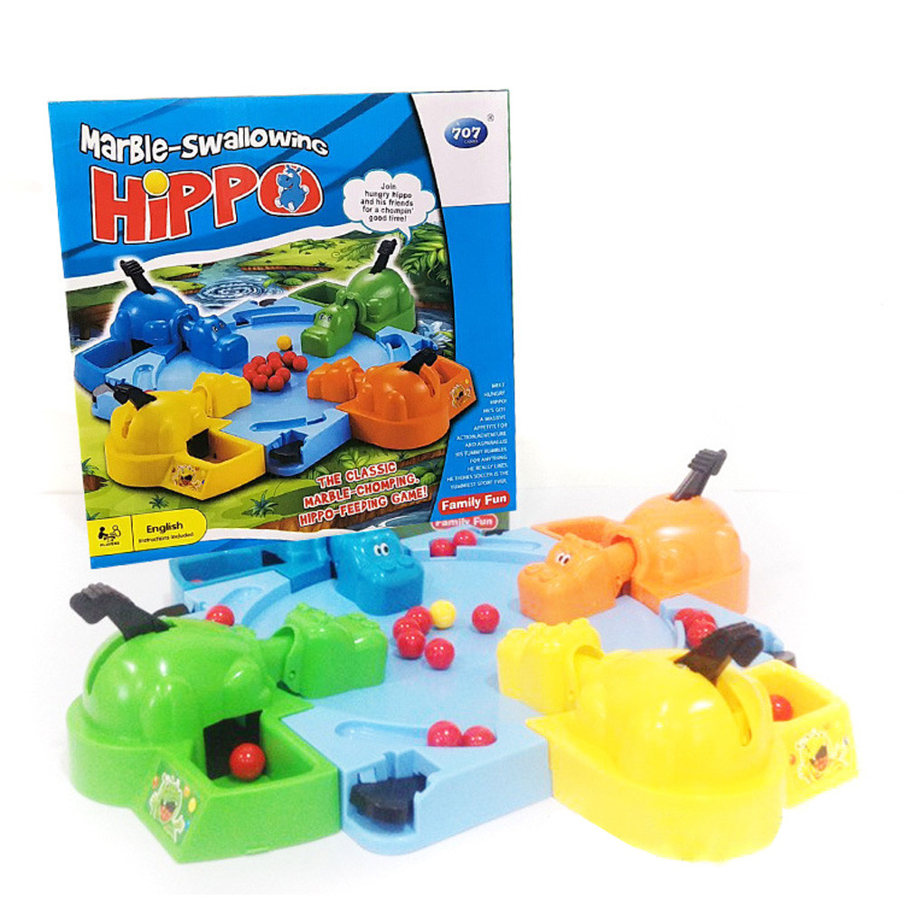 Parent-child Interaction Toys Feeding Hippo Swallow Beads Table Game Hungry Hippo Child Educational Toys Gift For Kids Fun Toys ...