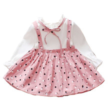 Baby Girls Dress Summer Cute Princess Cotton Long Sleeve for Sweety Girl