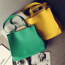 2016 Simple Big Handbag Fashion Drawstring Design Cover Shoulder Bags Famous Brand Women Top Handle Bags