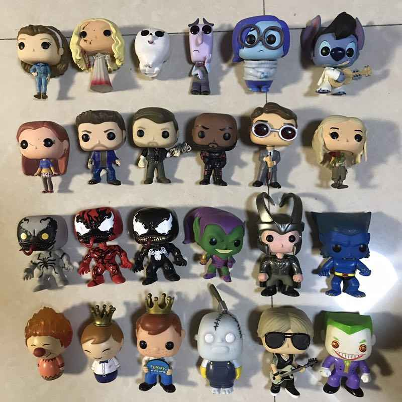 Original Funko pop Joker, Freedy, Venom, Stitch, Adventure, 울버린, Loki, Rocks, Daenerys 피규어 Collectible Model Toy