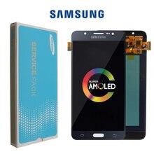 Orijinal 5.5 Süper Amoled samsung LCD Galaxy J7 2016 J710 J710F J710M J710G lcd ekran dokunmatik ekran digitizer Değiştirme