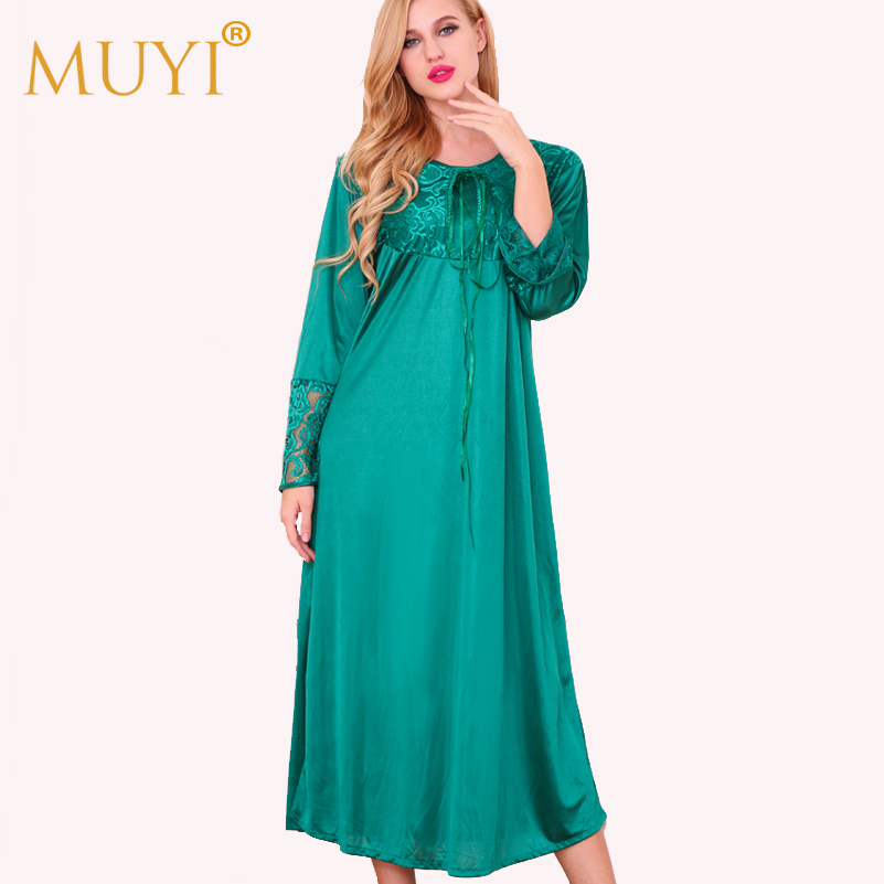 a76038934d Nightwear Long Sleepwear Women Nightgowns Woman Sleepwear Robe Night Dress  Plus Size Sexy Dressing Gown Full Sleeve Nightdress