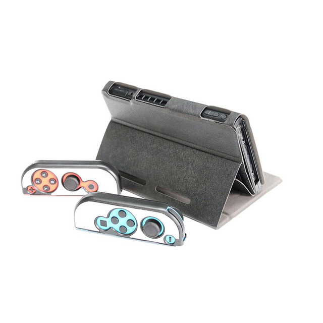 Nintend Switch Accessories Nintend Case Protector Cover Metal Controller Grips Leather Stand Case For Nintend Switch Console 4
