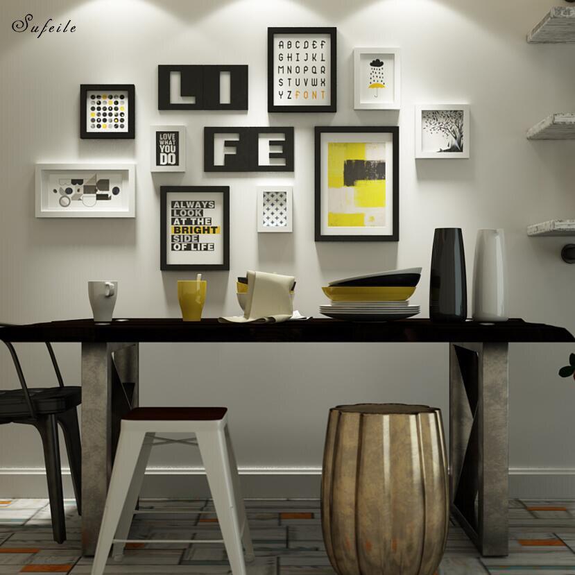 Us 10117 29 Offsufeile 1 Set Kayu Bingkai Foto Dinding Kombinasi Kreatif Dinding Dekorasi Ruang Tamu Restoran Sederhana Modern Foto Dinding D20 In