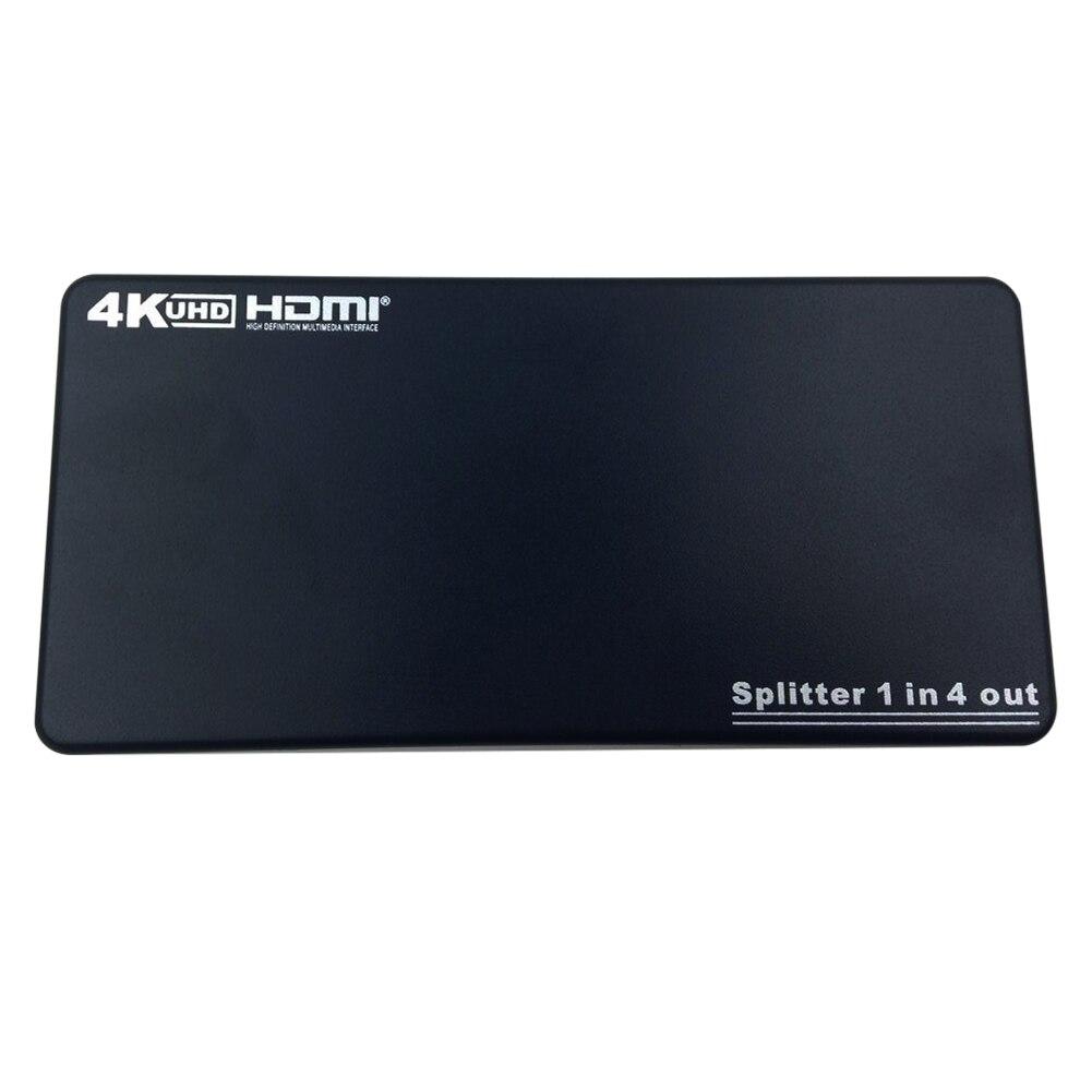 все цены на 1 In 4 Out HDMI Spliter HDMI 1.4b Distributor 4K 2K 3D Converter 2160P 1080P with Remote Control US Plug Power Adapter онлайн