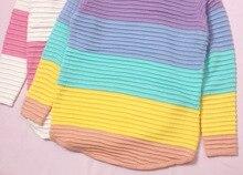 Rainbow Sweater  Loose Sweater