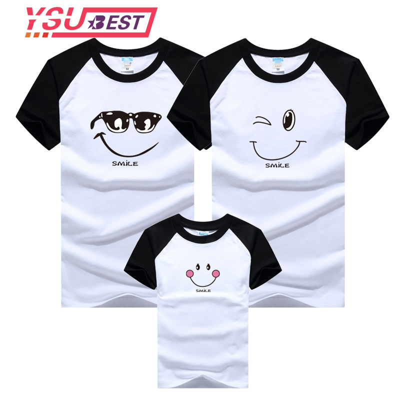 Family Matching Clothes Mother Daughter T-shirt Son Outfits Cotton Casual Short-sleeve T-shirt Family Look Father Baby Clothing new christmas family look family matching outfits t shirt color milu deer matching family clothes mother baby long sleeve cc527