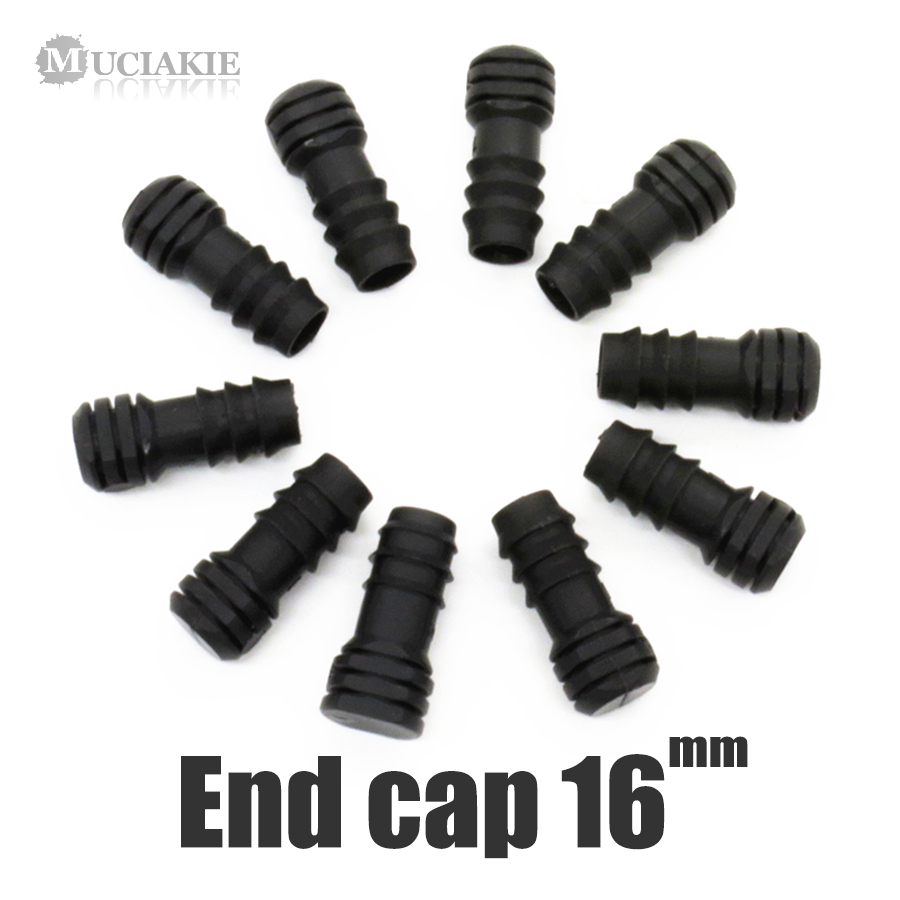 MUCIAKIE 10PCS 16mm End Cap For 16mm Micro Irrigation Tubing Micro Drip Irrigator Fitting Garden Watering Connector Waterstop