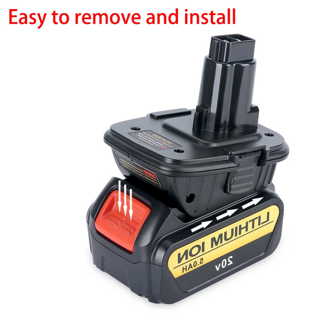 New 20V Battery Adapter DCA1820 Converted To Nickel Charger Tool Convertor For Dewalt Batteries
