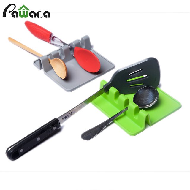 Silicone Spoon Rest Soup Spoon Holder