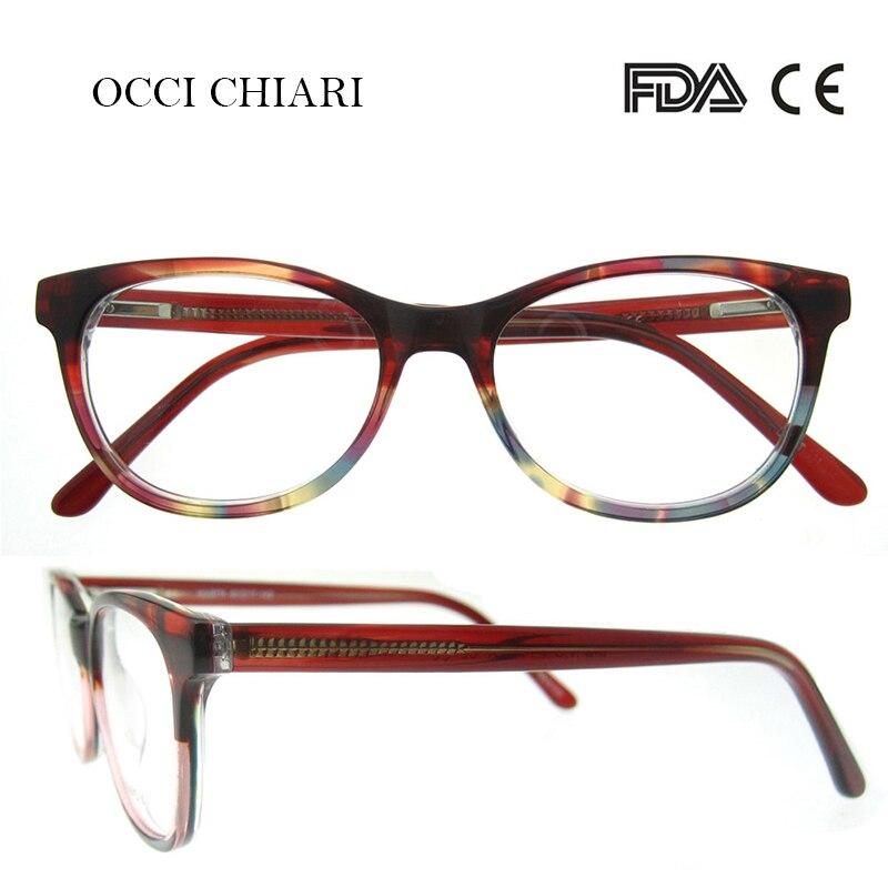 OCCI CHIARI HandMade Italy craftsmanship Prescription Lens Medical Optical Glasses Clear Designer Eyeglasses Women W-CORTESE