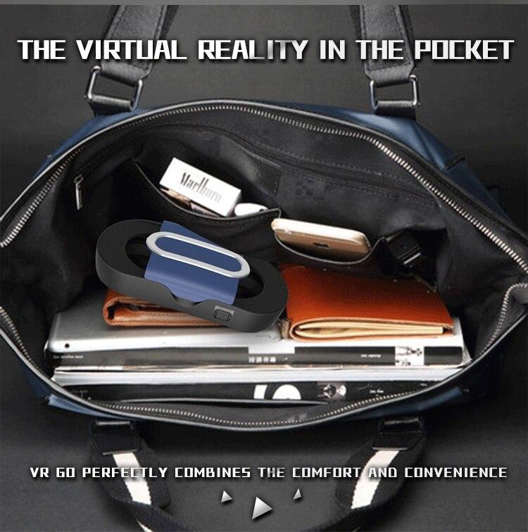 Original Cardboard Portable Mini Folding  RITECH VR GO Virtual Reality 3D Glasses For 4″-6″ Smartphone + White Bluetooth Gamepad