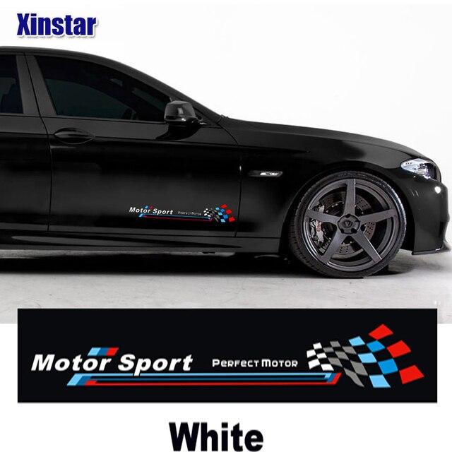2pcs m performance car side decoration sticker for bmw e38 e39 e46 e53 e60 e61 e64